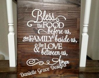 Dinner Blessings Wood Sign