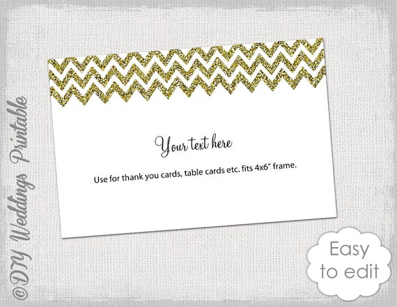 6x4 postcard template - 6x4 card template gold glitter wedding flat card