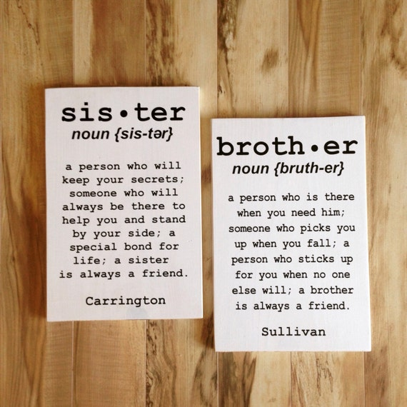 Brother sister sign-3277