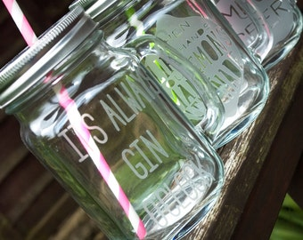 Personalised Mason Drinking Jar