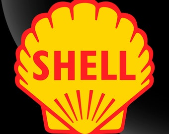 Shell Vinyl Decal Sticker Gasoline Petroleum 2 color