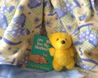 Baby Blanket, Baby Shower Gift, Rocking Horse Baby Quilt, Baby Bedding, Fleece Infant Blanket, Crib Bedding, Baby Blanket, Fleece Blanket