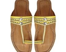 Yellow Indian Sandal DLC-W-071