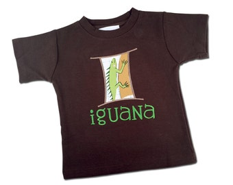 Boy Iguana Shirt with Embroidered Name