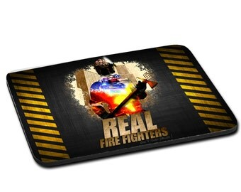 """MOUSEPAD printed with """"REAL FIREFIGHTER"""""""