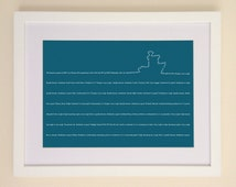 Shipping Forecast Art Print available in A4 or A3 printed on Archival Matte Paper
