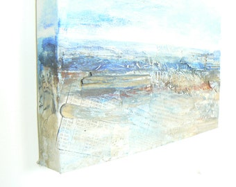 "Seascape painting of Devon on canvas....""Oh the ocean waves do roll..."""