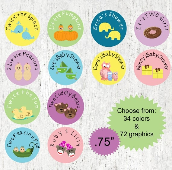 Twin Baby Shower Favors Twin Boys Baby By PartyFavorsbyDesign