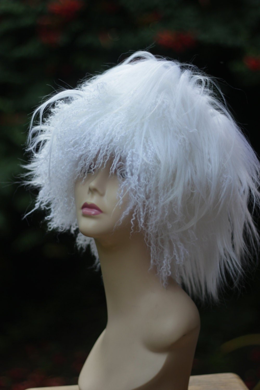 womens hats trendy llama fur hat white kubanka winter hat