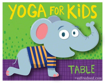 Table Pose: Yoga for Kids 8x10 Print