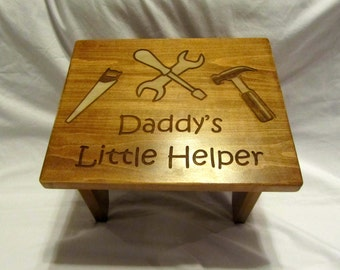 Personalized Wooden Toddler Step Stool- Custom Design