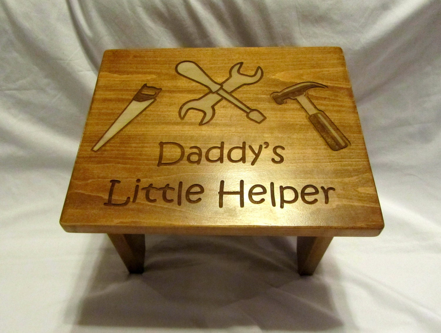 Personalized Wooden Toddler Step Stool Custom by Whitetailwc