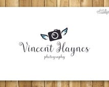 Photography Logo, Pre-Made Logo - Camera with Wings , Angel camera