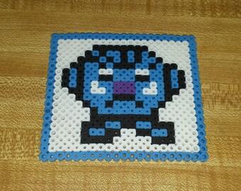 Whimsical Perler Bead Coaster