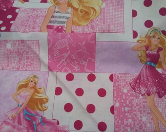 Barbie 100% Cotton Fabric by the yard