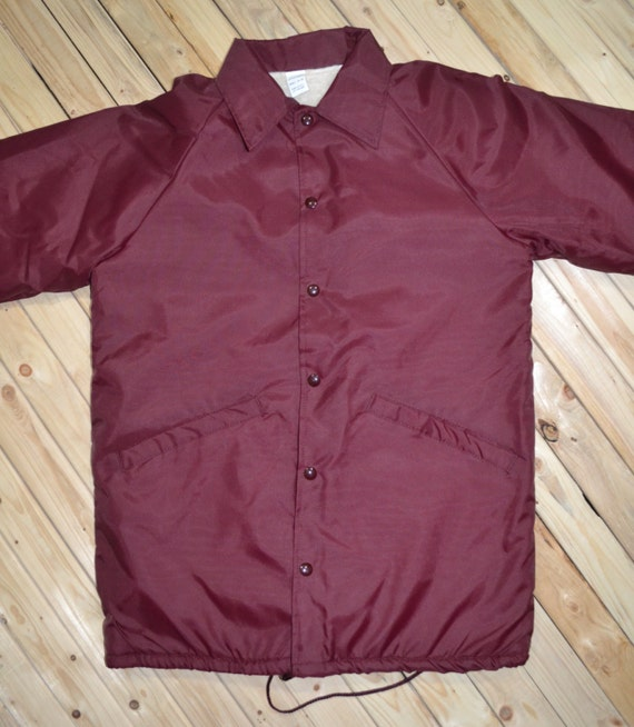 Garage Coach Jacket Nylon With Snap Closure Made In USA