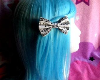 Sweet Lolita music notes hair bow set