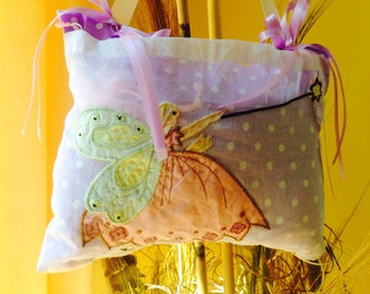 Tooth fairy pillow, Pink, Purple, yellow, mint.   Pink Tooth pillow, girl tooth fairy pillow.
