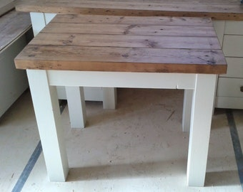 Chunky rustic desk 90x50cm, painted or all wax