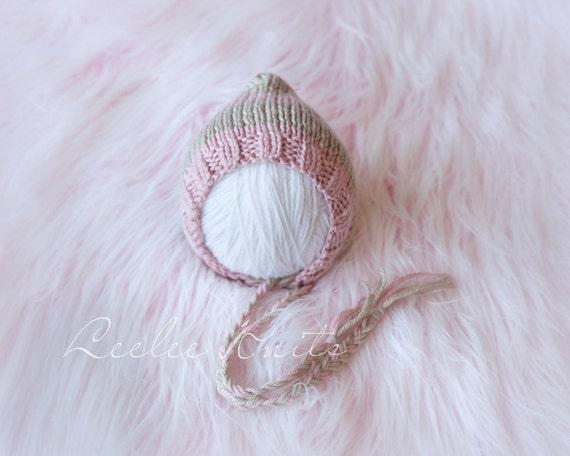 Pattern - Strawberries and Cream Newborn Pixie Hat Pattern