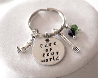 Part of your world-The Little Mermaid inspired Ariel keychain-mermaid keychain-accessories-part of your world keychain