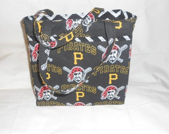 Pittsburgh Pirates Tote Bag - Handmade Fully Lined w/Pockets