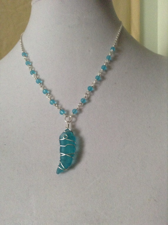 Aqua Wire Wrapped Glass (Recycled) TG6171777