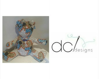 Ankara / African Wax Print teddy with matching accessorise.
