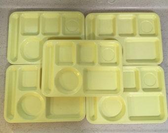 Vintage Melmac Arrowhead Cafeteria Trays- Set of 5