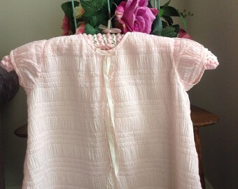 Authentic Vintage1960's delicate pink girls dress size ..9-12 months