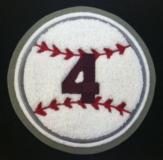 Custom made Chenille Baseball patch A Varsity Patch