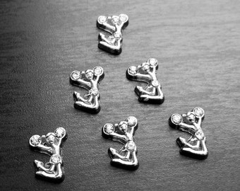 Cheerleader Floating Charm for Floating Lockets-Gift Idea