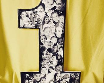 Baby gift, Baby first birthday, 1st birthday, babies first birthday, photo collage, custom photo collage for baby, first birthday gift!