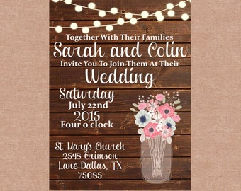Rustic Wedding/Shower Printable Invitation