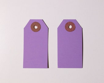 100 Lavender Purple Violet Hang Paper Tag Price Description Gift Shipping Tags | 2 3/4 x 1 3/8 inch