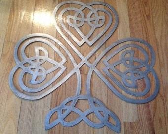 Metal Celtic Knot Clover Wall Decor - Sign - Art