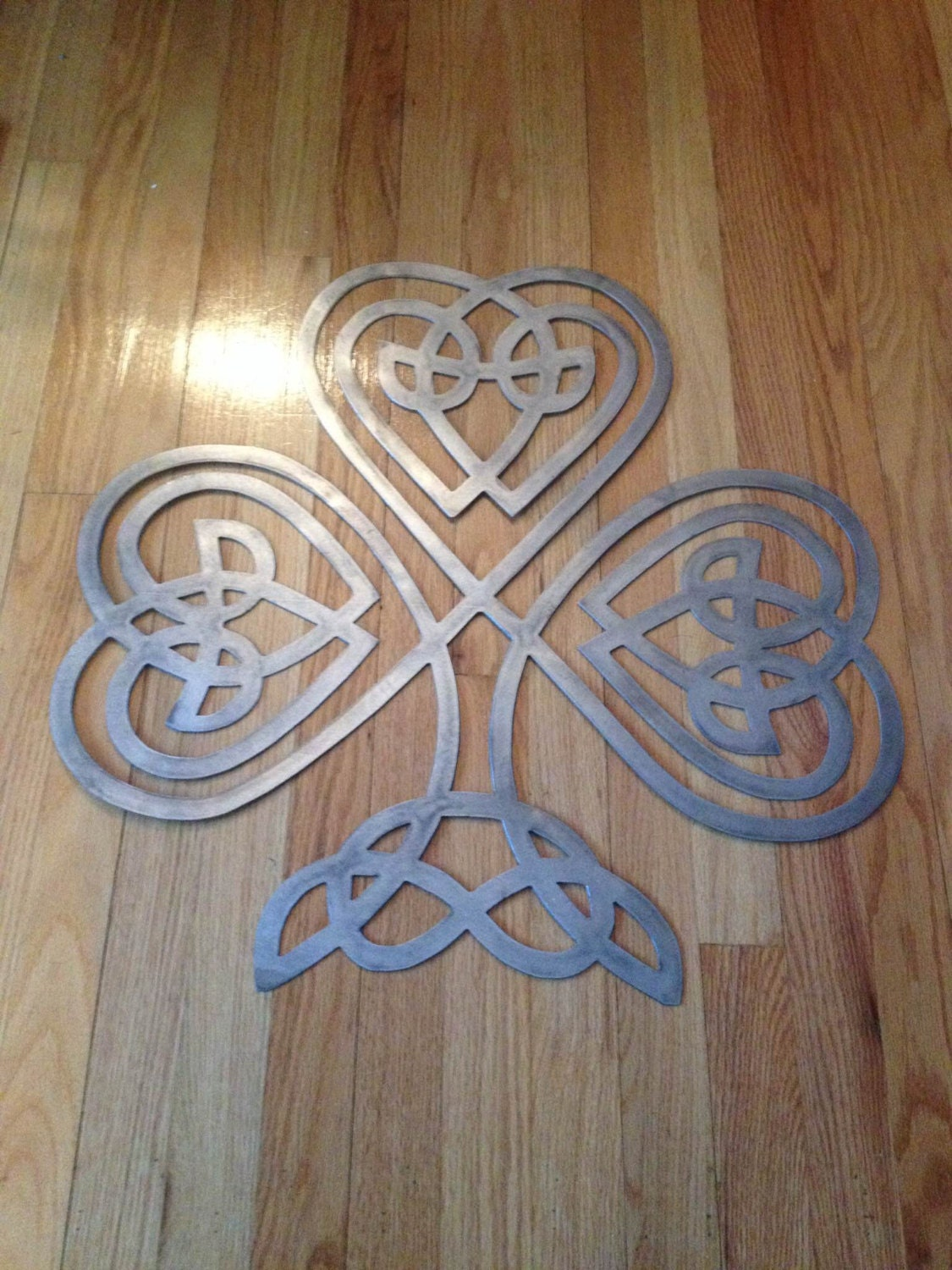 Metal Celtic Knot Clover Wall Decor Sign By