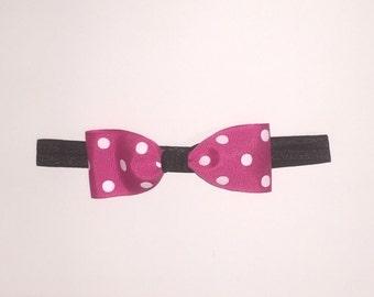 Minni Mouse inspired headband, pink headband
