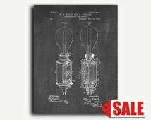 Patent Art - Incandescent Lamp Socket Patent Wall Art Print