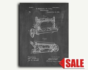 Patent Print - Sewing Machine Patent Wall Art Poster Print
