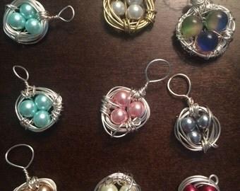 Bird's Nest Necklace charm