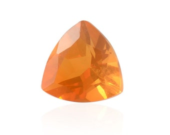 Fire Opal Loose Gemstone Trillion Cut 1A Quality 5mm TGW 0.15 cts.