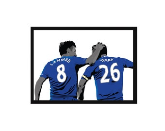 Frank Lampard and John Terry A3 Poster: 297mmx420mm Chelsea, CFC, London, Mourinho, Hazard, Drogba, Zola, Oscar, Football, Soccer, Blue
