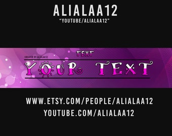 pink youtube banner template .
