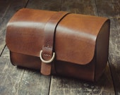 Handmade Veg Tanned leather Dopp kit/toiletry case *MADE TO ORDER*