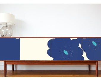 Upcycled Vintage Sideboard alternative colour option 002 (PSP) Blue/Turquoise