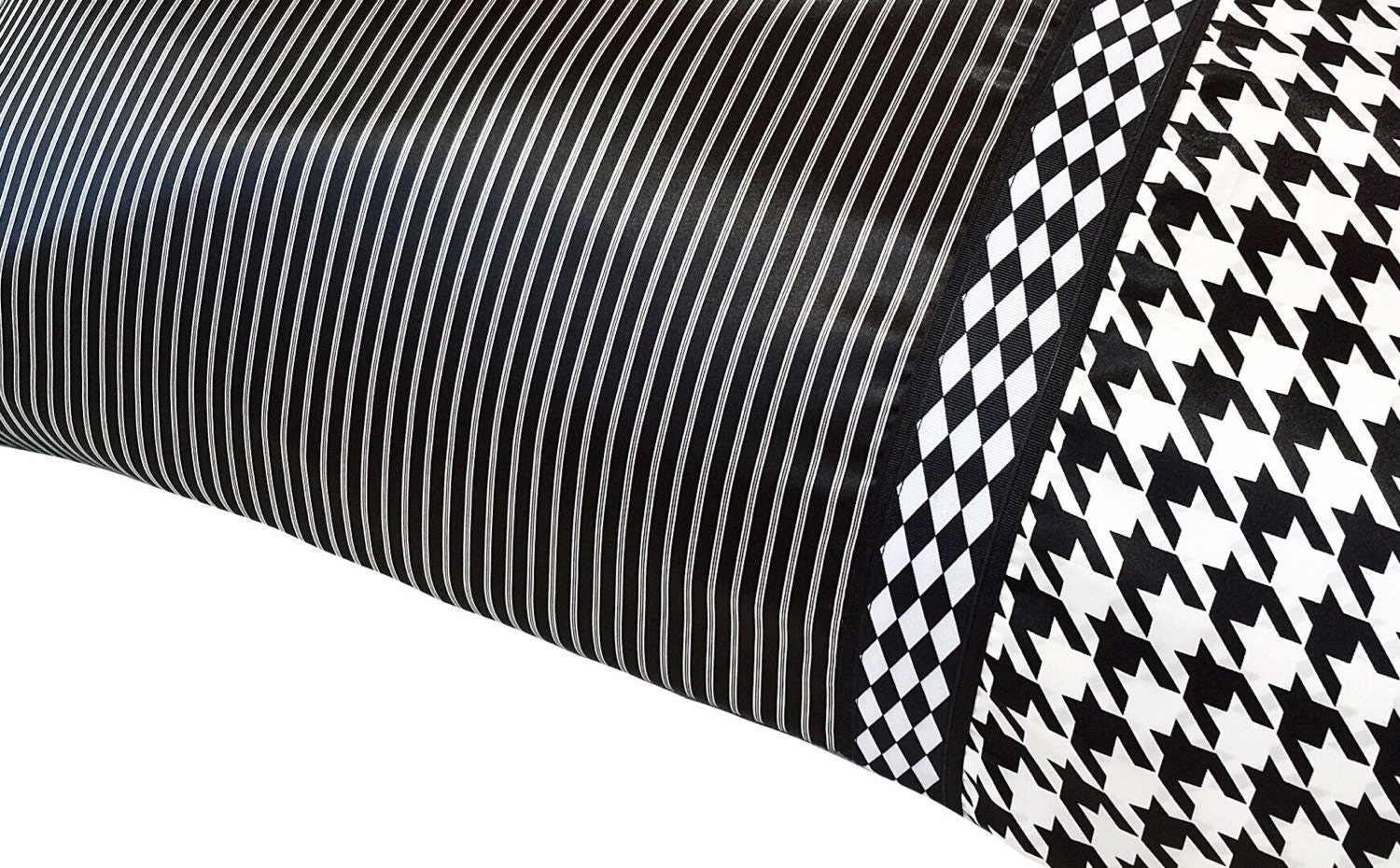 Black Amp White Pinstripe Pillow Case Black And White Satin
