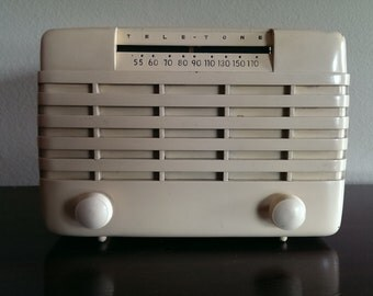 Bluetooth 1940's Tele-tone Mini Antique Radio