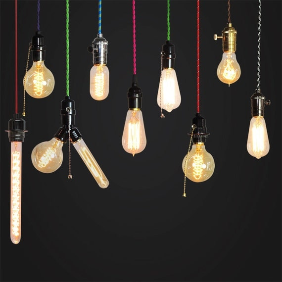 custom make your own pendant lamp edison bulb by