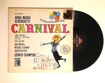 25% OFF Vinyl Record Carnival Original Broadway Cast Recording Anna Maria Alberghetti LP Album Stage and Screen 1961